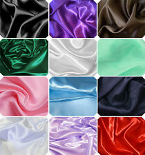 1m x 1.5m STARCHED POLY-SATIN FABRIC MATERIAL WEDDINGS PROM DRESSMAKING