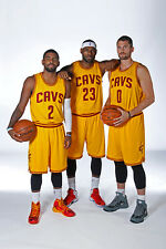 Lebron James, Kyrie Irving, Kevin Love Cleveland Cavaliers NBA Licensed Photos
