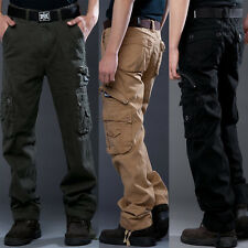 New Mens Casual Military Army Cargo Work Pants Camo Combat Outdoor Trousers Pant