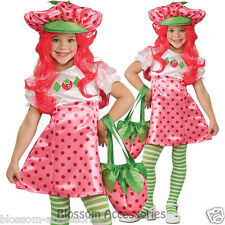 CK394 Strawberry Shortcake Girls Child Book Week Fancy Dress Up Deluxe Costume