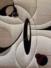 New City Brand New Contemporary Brown and Beige Circles Area Rugs