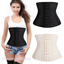 UK Waist Trainer Sport Steel Boned Shaper Training Tummy Girdle Control Corset