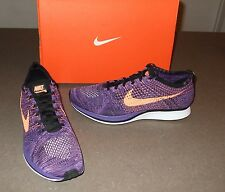NEW NIKE FLYKNIT RACER SHOES OLYMPIC HTM TRAINER KANYE 526628-585 ATOMIC PURPLE