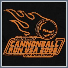 Cannonball Run T SHIRT Street Racing Smokey and the Hot Rod Bandit Customs Tee