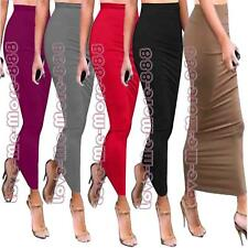 Womens Party Club Summer Tight Fitted Slimming Tube Basic Maxi Long Skirt Dress