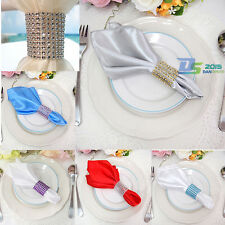 50pcs Rhinestone Bow Covers 8 Row Wedding Party Chair Sash Napkin Rings