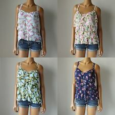 NWT ABERCROMBIE & FITCH ANF WOMENS PRETTY FLORAL SOFT FASHION TOP $78 S, M