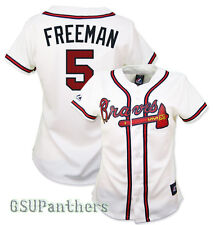 2014 Freddie Freeman Atlanta Braves Home (White) Replica Jersey Women's