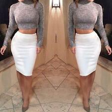 Charm Turtleneck Long Sleeves Polyester Two-piece Skirt(Grey Top+White Skirt) HF