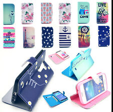 New Flip Folio PU Leather Stand Flip Wallet Magnetic Cover Case For Smart Phones
