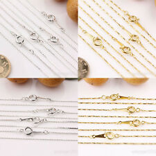 New 2/10Pcs Gold/Silver/Plated Twisted Clasps Ring Chains Jewelry Making 17inch