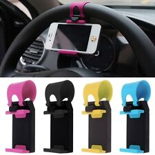 Useful Car Steering Wheel Mount Holder Rubber Band For Mobile Cell Phone MP4 GPS
