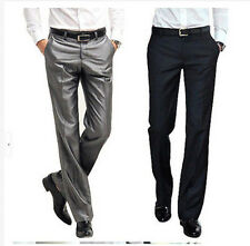 6 Colors Mens Business Dress Slim Pants Wedding Formal Casual Suit Thin Trousers