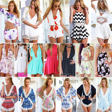 2015 Sexy Womens Celeb Floral Print Playsuit Summer Ladies Dress Shorts Jumpsuit