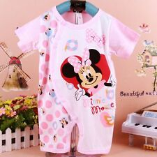 Newborn Baby Girls Cartoon Bodysuit 0-18M Cotton Romper Pants Clothes One-Piece