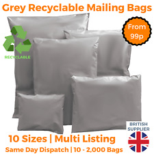 Strong Cheap Grey Plastic Mailing Post Poly Recycled Bags self seal ALL SIZES