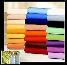 2 x COTTON FLEECE Fitted sheet Bed Cloth Bed sheets 90x200 100x200 140x200