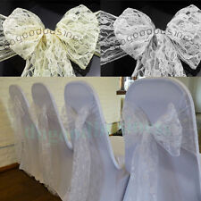 18*275cm Lace Chair Cover Sash Bows Wedding Banquet Party Reception Lace Bow