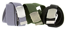 "Military Army Canvas Web Belt 1-1/2"" Wide"