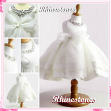 Off White Fancy Communion Wedding Party Flower Girls Dresses SIZE 2,3,4,5,6,7,8T