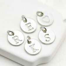 A-Z 10mm Silver metal Initial Charms Letters Alphabet Nickle free (15-1-670)