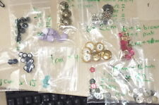 buttons vintage quirky toggle brass flowers mixed gem pearl colours logo jacket