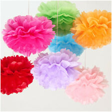 "15 Pcs 6"" Tissue Paper Pom Poms Flowers Balls Wedding Party Decoration Supplies"