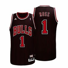 1994-95 Derrick Rose ADIDAS Chicago Bulls HWC Soul Swingman (Black) Jersey Men's