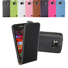 Flip Magnetic Leather Pouch Case Cover W/ Hard Shell For Samsung Galaxy S2 i9100