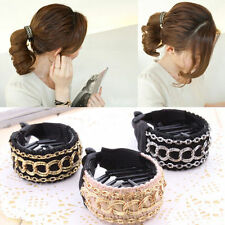 nice Hair Clip Luxury Gold Chain Cute Women Hair Barrette Ponytail Holder