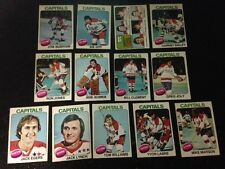 1975-76 OPC WASHINGTON CAPITALS Select from LIST SEE SCAN HOCKEY CARD O-PEE-CHEE