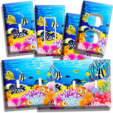 TROPICAL SEA EXOTIC CORAL AQUARIUM FISH LIGHT SWITCH OUTLETS WALL PLATE COVERS