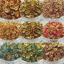 Lots 50/100Pcs Golden Plated Wave Czech Crystal Spacer Loose Rondelle Beads 8mm