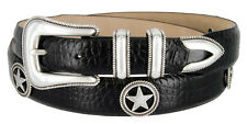"The Maldonado - Italian Calfskin Leather Dress Ranger Concho Belt, 1-1/8"" Wide"