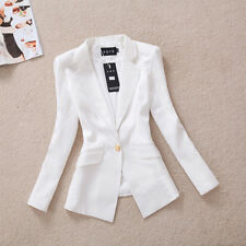 New Women's Casual One Button OL Blazers Lady Slim Fit Short Suits Jackets Coat