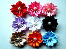 50pcs ribbon flowers with the Appliques Craft DIY Wedding Crafts