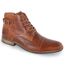 Mustang 4859501 Mens Ankle Boots Trainers Leather Brown New Shoes Size 9 11 UK