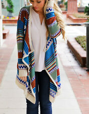 Aztec Tribal New Bohemian Clothing Long Sleeve Aztec Cardigan Top Slouchy Boho