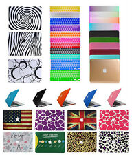 """Rubberized Hard Case Shell+Keyboard Cover for Macbook 12""""Pro 13/15""""Air11/13""""inch"""