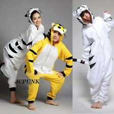 New!! Unisex Adult Pajamas Kigurumi Cosplay Animal Onesie Sleepwear Robe tiger