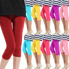 2015Hot Fashion Women Summer 3/4 Pants Tights Cropped Short Capri Stretchy Pants