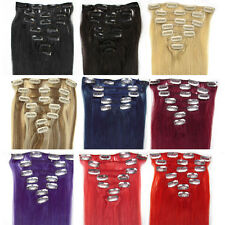 """15""""-28""""7pcs Clip in Remy Human Hair Extensions in Women's Accessories 24colors"""
