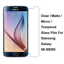 Tempered Glass/Clear/Matte/Mirror Screen Protector Film For Samsung Galaxy S6