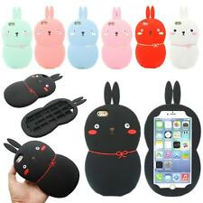 3D Cute Lovely Rabbit Bunny Soft Silicone Gel Cover Case For iPhone 5S 6 6S Plus