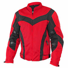 Xelement Invasion Men's Red/Black Mesh Armored Motorcycle Jacket with Gun Pocket