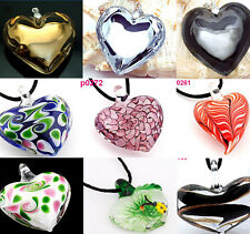 Wholesale handwork Lampwork heart Murano glass Pendant Crystal for Necklace gift
