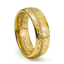 Worth Sale Gold Tone Lord Of Ring Men's Tungsten Polish Wedding Band US Size9-12