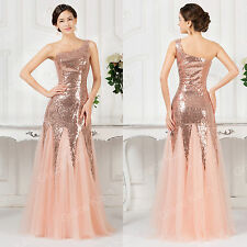 BODYCON MERMAID Sequin Long Prom Wedding Masquerade Gowns Evening Party Dresses