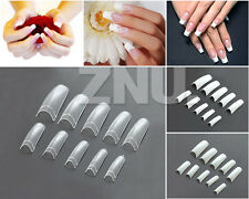 500pcs New Manicures Acrylic French Half False Nail Art Tips Home DIY 3 Colors