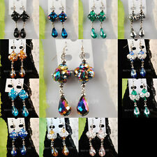Mix Color Crystal Faceted Beads Earrings Pair WB252